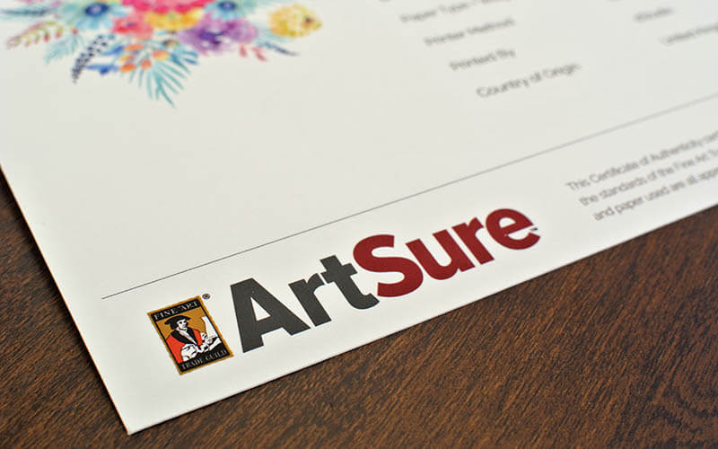 ArtSure Certificate of Authenticity