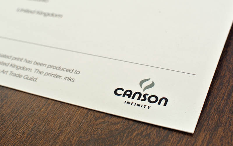 Canson Infinity Certificate of Authenticity